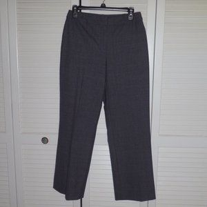 Anne Klein grey patterned trousers